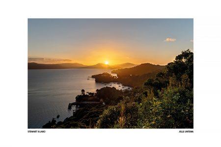 Zonsondergang, Stewart Island – I (Luxe kaart 20x30cm.)
