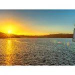 Waitangi River, Paihia, Zonsondergang – II (Luxe kaart 20x40cm.)